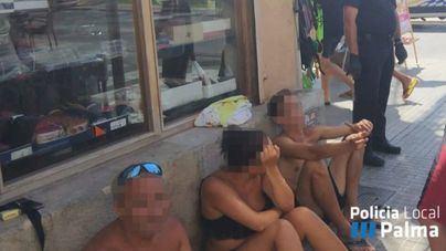 Ocho detenidos en 48 horas en Playa de Palma: carteristas, descuideros y traficantes de drogas