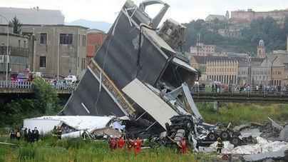 Se elevan a 35 los muertos en el derrumbe de un puente en Génova