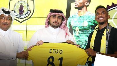 Samuel Etoo, nuevo jugador del Qatar Sports Club