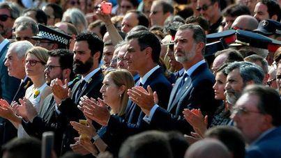 Actos de homenaje a las víctimas en el aniversario de los atentados de Barcelona y Cambrils