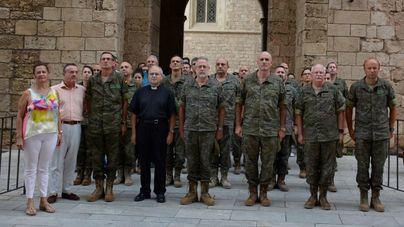 Minuto de silencio del Ejército por las víctimas de los atentados de Cataluña