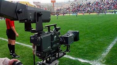 Imagen de archivo de cámara de TV en el Estadio
