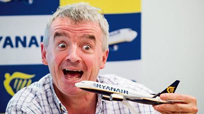 El histriónico presidente de la compañía, Michael O'Leary