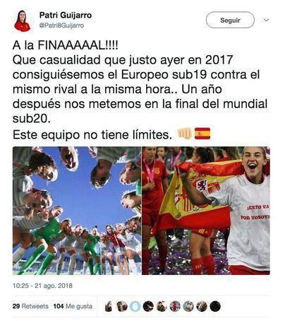 Cata Coll y Patricia Guijarro dan a España el pase a la final del Mundial