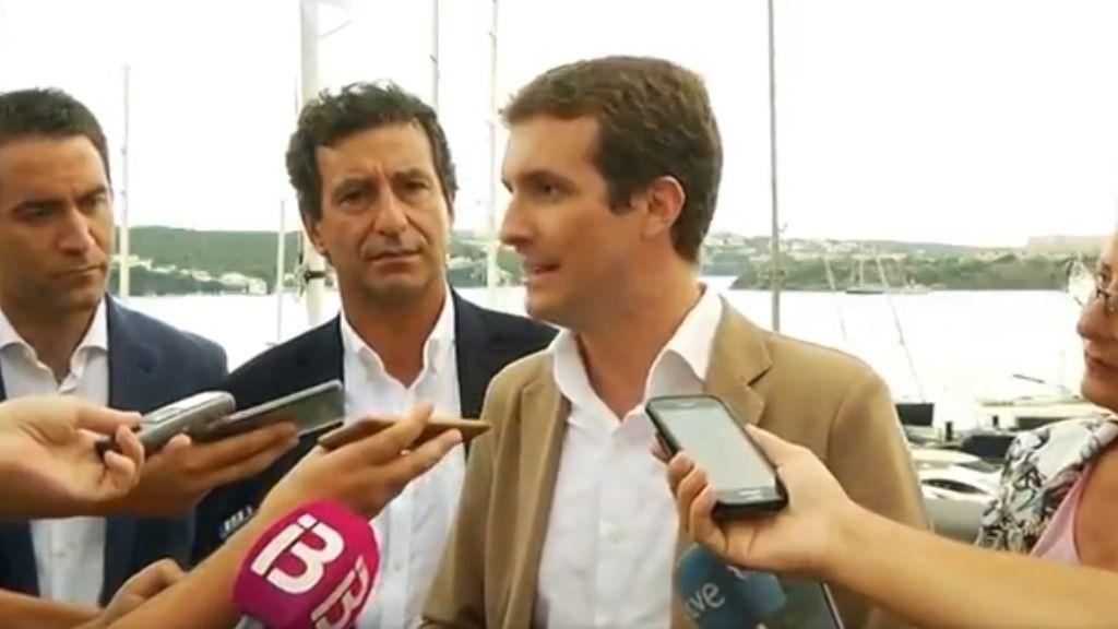 """Pablo Casado alerta al independentismo: """"Las Islas no son anexo de nada"""""""
