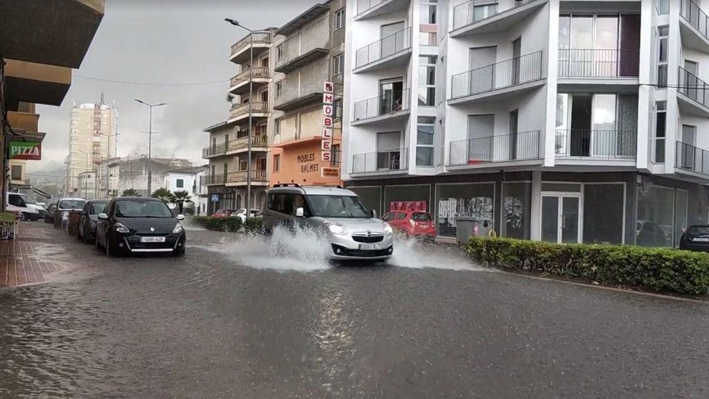 Serias inundaciones en Manacor por la intensa lluvia del sábado