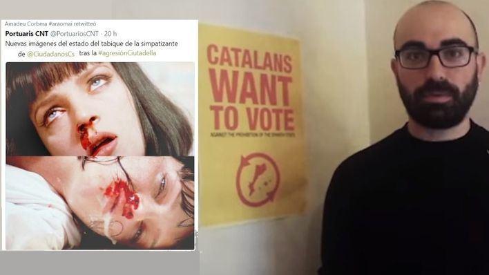 El presidente del GOB se burla de la mujer agredida por retirar lazos amarillos en Barcelona