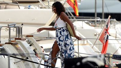Michelle Obama, de vacaciones en Mallorca