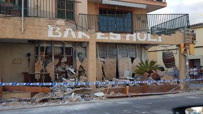 Se hunde la terraza de un primer piso sobre un bar en Binissalem