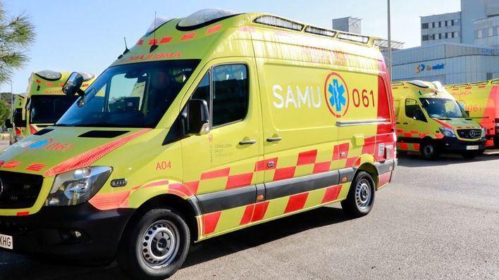 Siete heridos, tres en estado grave, por una colisión frontal entre dos vehículos en la carretera de Escorca