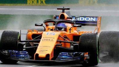 Alonso se retira en la décima vuelta en Monza, Italia