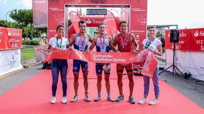 Ryan Christian y Joana Pascual vencen en el Triatló Port de Palma