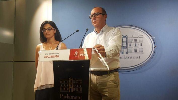 El portavoz del grupo parlamentario del PSIB, Andreu Alcover