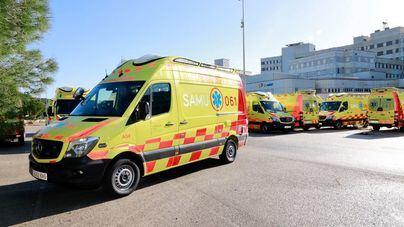 Un motorista de 51 años, herido en Ibiza tras chocar contra un coche