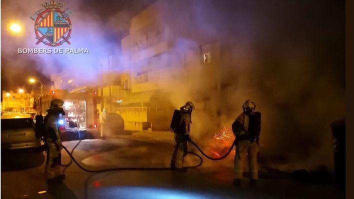 La ola de vandalismo no cesa: 4 contenedores arden en Palma y ya van más de 120 este año
