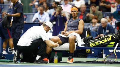 Nadal abandona el US Open por molestias en la rodilla derecha