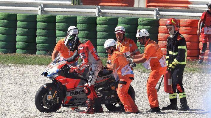 Lorenzo lamenta la caída porque impidió un doblete en el GP de San Marino