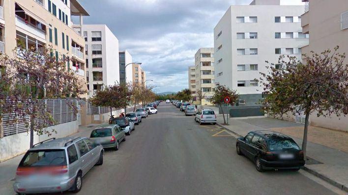 Calle Plataner, donde está ubicada la panadería donde comenzó la pelea