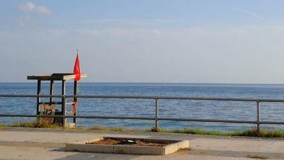 Cierran las playas de Can Pere Antoni y Ciutat Jardí por octava vez este verano