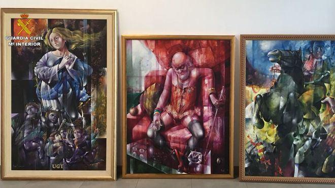 Dos detenidos y uno en busca y captura por robo de obras de arte en Calvià