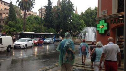 Declaran la alerta amarilla por lluvias y tormentas localmente intensas en toda Mallorca
