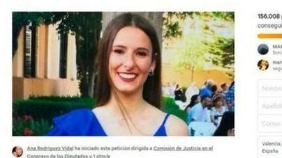 Recogen 242.000 firmas para endurecer la pena tras el atropello mortal de Paula en Sa Ràpita
