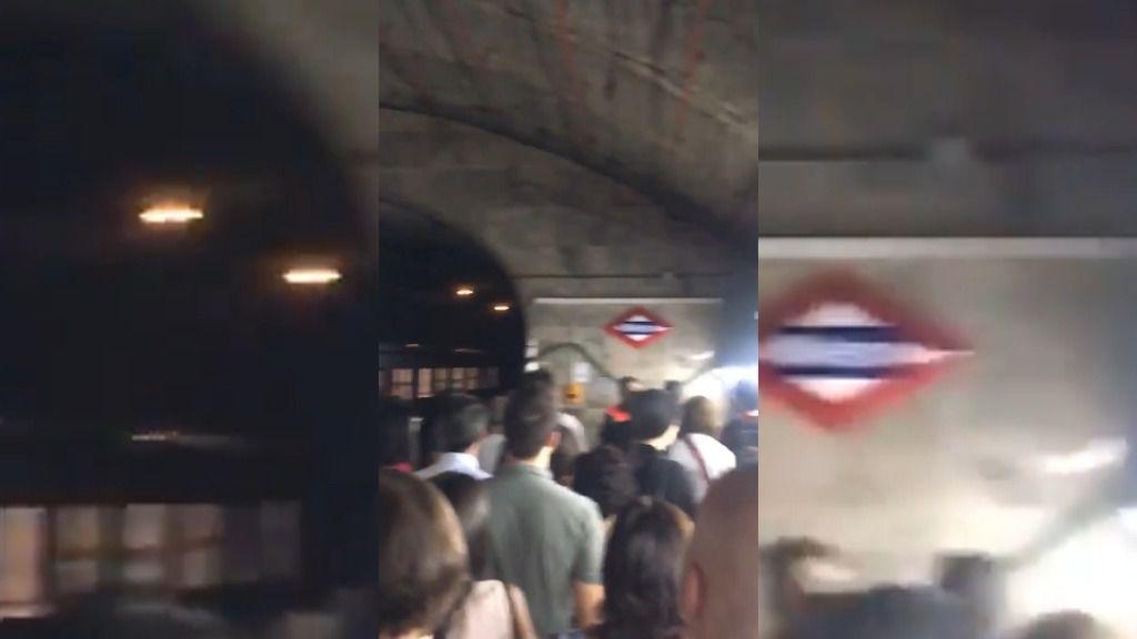Explota un portátil en un vagón de Metro de Madrid