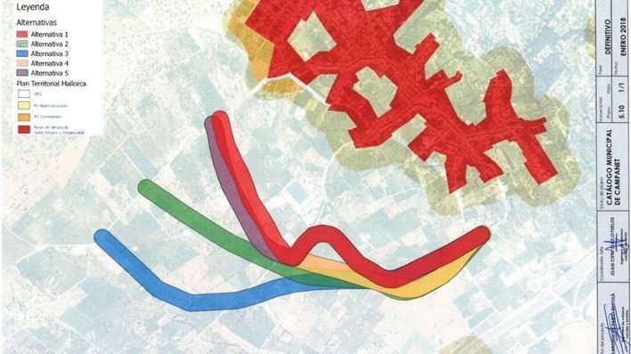 """El GOB considera """"no justificada"""" la nueva carretera del Consell para Campanet por su """"impacto"""""""