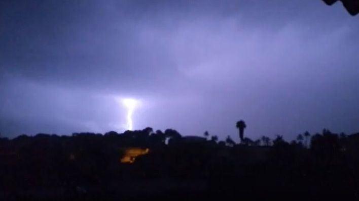 Caen 86 rayos en Mallorca en un solo día