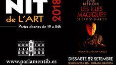 El Parlament vuelve a abrir sus puertas durante la Nit de l'Art