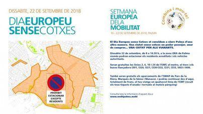 Palma prohibe el estacionamiento en toda la zona ORA por el Día Europeo sin Coches