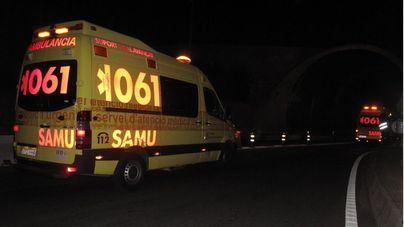 Tres heridos, dos graves, en un choque frontal en la autovía de Andratx