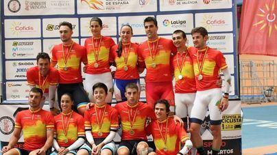 La selección balear de ciclismo en pista revalida su título de persecución