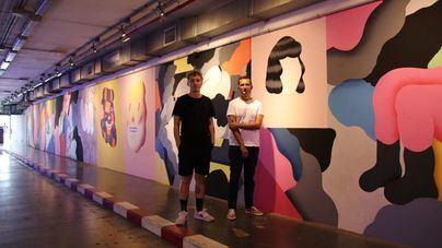 Grip Face termina el mural del aparcamiento de Marquès de la Sénia