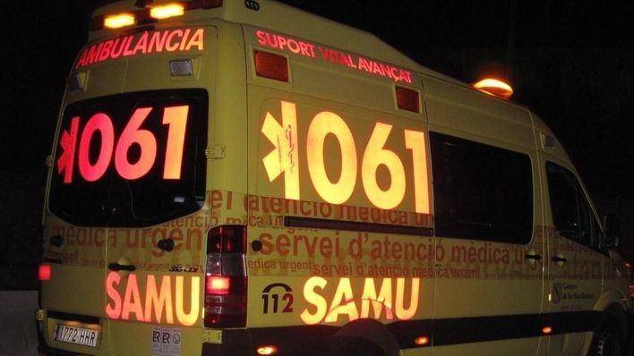 Un hombre y una mujer heridos en un accidente de moto en la carretera de Pollença hacia Lluc