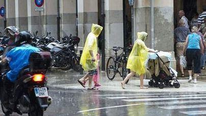 Lluvias y tormentas para este lunes en Balears y gran parte de la península