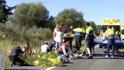 Seis de cada diez muertos en carreteras de Balears son peatones, ciclistas y motoristas