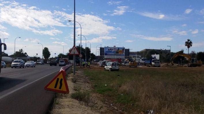 Empiezan las obras en la rotonda de la carretera de Sóller
