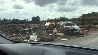 Cuatro carreteras quedan cerradas al tráfico tras las inundaciones