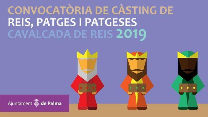 Abren casting para escoger a los Reyes y Pajes de la Cabalgata de Palma 2019