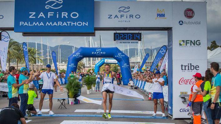 Anna Wasik y Kasper Launmann, ganadores de la Zafiro Palma Marathon