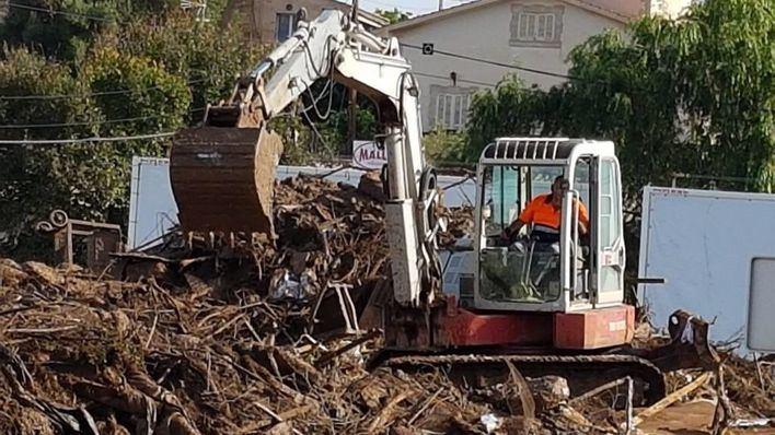 Recogen 4.200 toneladas de residuos desde el pasado martes en las zonas afectadas por las inundaciones