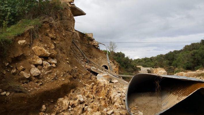 El Consell actúa en 21 carreteras afectadas por la riada de Llevant