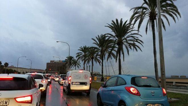 La gota fría deja nueve incidentes relacionados con las lluvias en Mallorca