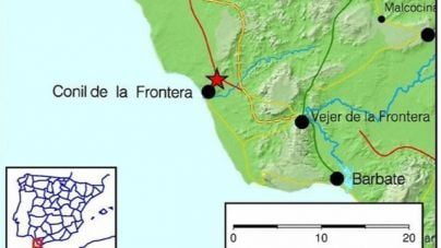 Registrado un terremoto de magnitud 4 en Conil de la Frontera, Cádiz