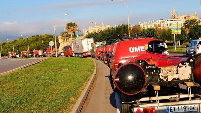 Repliegue de la UME hacia la Península tras su actuación en las inundaciones de Sant Llorenç