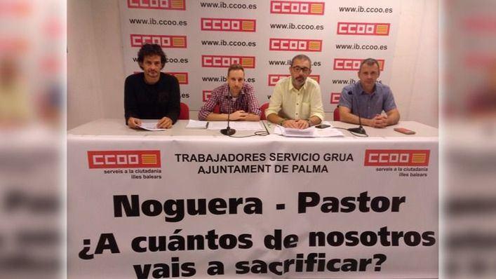CC.OO. denuncia en el juzgado el contrato de la grúa de Palma por su coste de personal