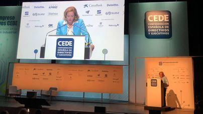 """La ministra Calviño defiende en Palma un """"cambio de paso"""" en la política económica del país"""