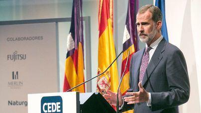 El Rey apela en Palma a una revolución tecnológica que mejore la productividad y la calidad de vida