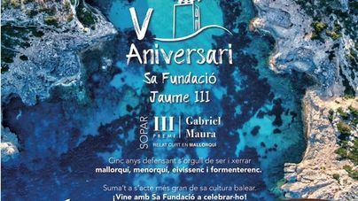 600 personas asistirán a la cena del V aniversario de la Fundación Jaume III